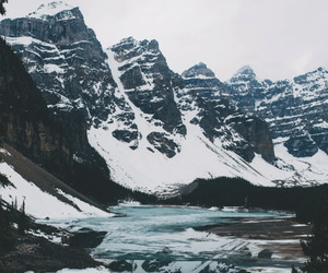 mountains, snow, and landscape image