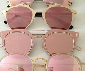 sunglasses, pink, and glasses image