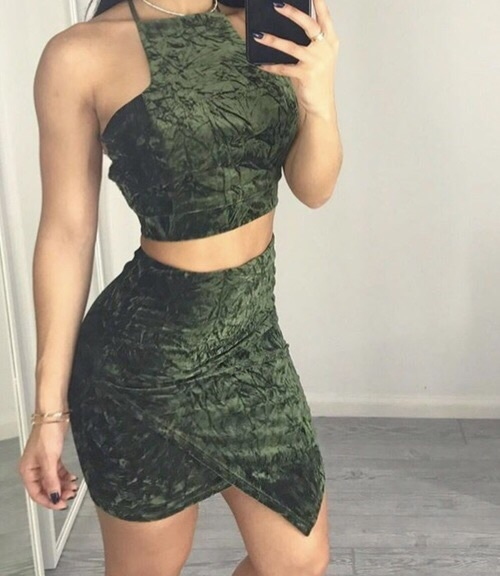 fashion, two pieces, and heels image