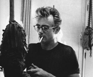 james dean, black and white, and vintage image