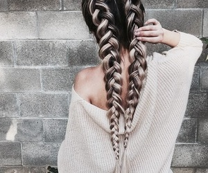 braids, hair, and hairstyle image