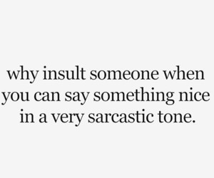 quote, sarcastic, and insult image