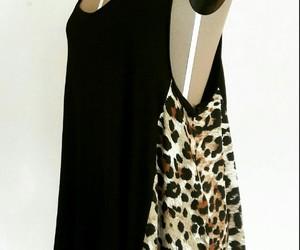 animal print, black, and blouse image