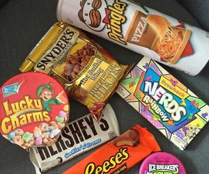 candy, nerds, and pringles image