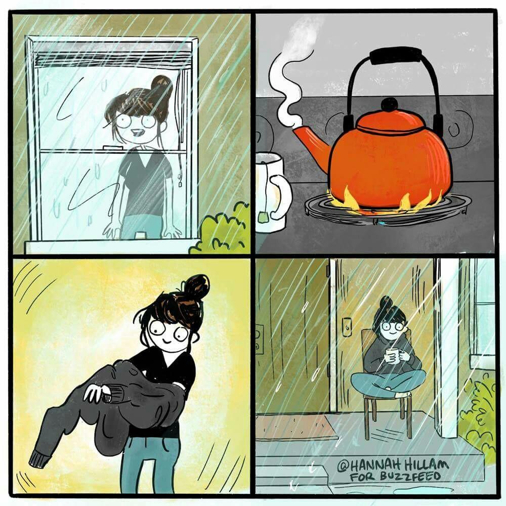 rain and tea image