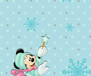 winter, minnie, and disney image