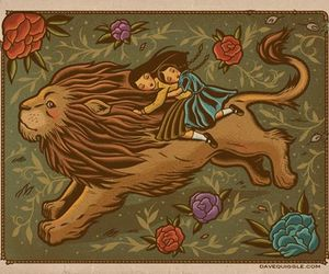 girls, lion, and dave quiggle image