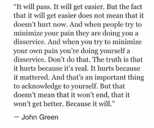 end, important, and john green image