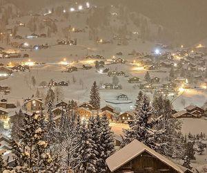 snow, christmastime, and switzerland image