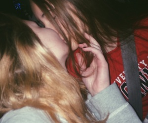 blonde, kissing, and love is love image