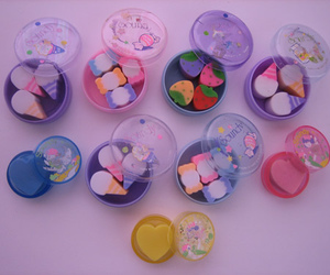 adorable, candy, and erasers image