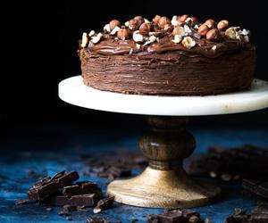 cake, chocolate, and crepe cake image