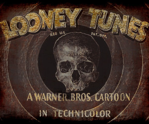 art, death, and looney tunes image