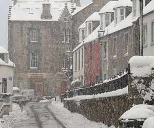 snow, winter, and scotland image