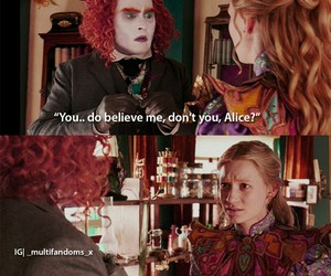 alice, johnny deep, and mad hatter image