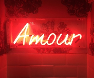 red, amour, and light image