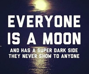 moon, quote, and dark image