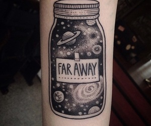 tattoo, galaxy, and far away image