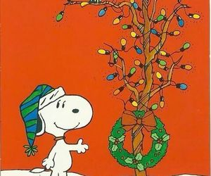 christmas, snoopy, and wreath image