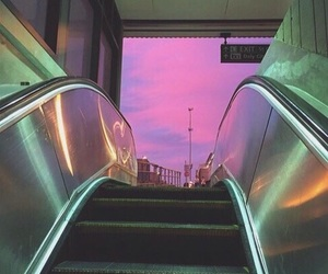 sky, aesthetic, and pink image