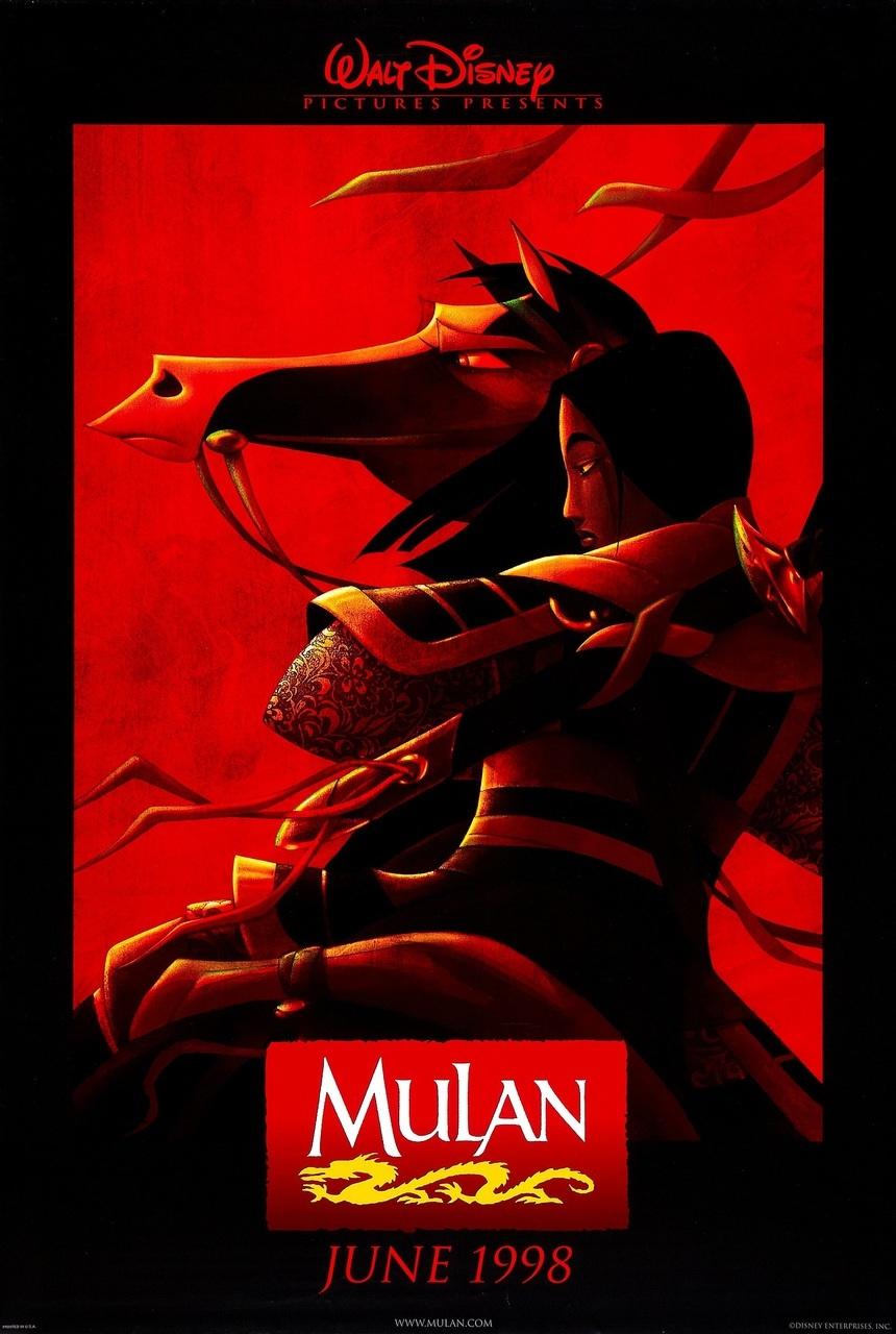 disney, mulan, and poster image