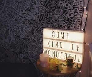 bedroom, flower, and light image