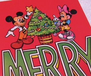 disney, merry christmas, and mickey image