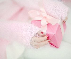 pink, christmas, and pastel image