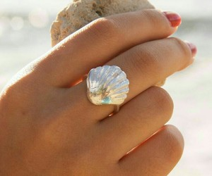girl, ring, and shell image