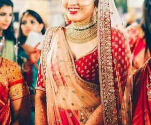 beautiful, bride, and traditional image