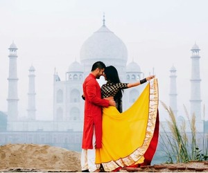 bride, groom, and india image
