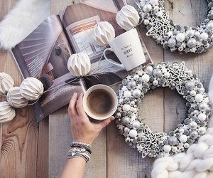 coffee, flashlight, and magazine image
