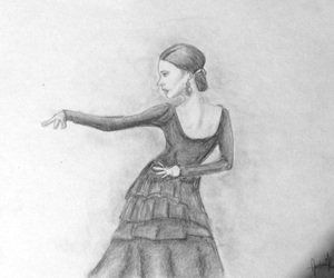 art, girl, and dance image