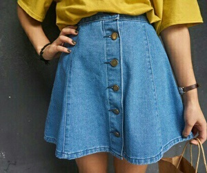 skirt, tumblr, and yellow image