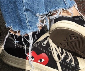 shoes, grunge, and converse image