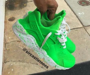 green, white, and huaraches image