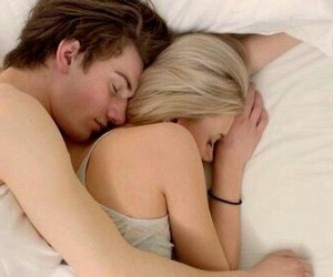bed, noora, and couple image