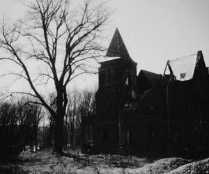 house, black and white, and black image