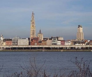 antwerp, belgium, and skyline image