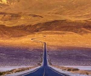 road, desert, and nature image