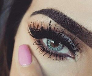 makeup, eyes, and nails image