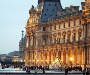 paris, louvre, and architecture image