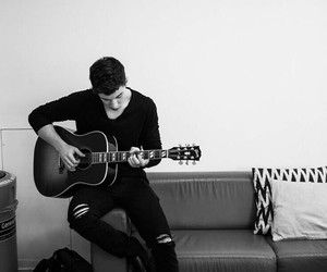 shawn mendes, guitar, and boy image