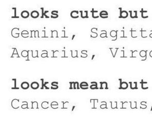 astrology, mean, and cute image