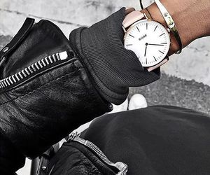black, cartier, and watch image