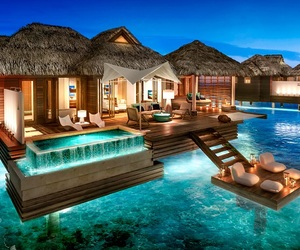 beautiful, bora bora, and travel image