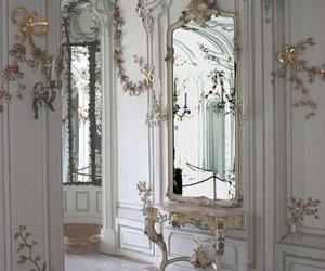 white, architecture, and mirror image