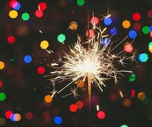 light, fireworks, and xmas image