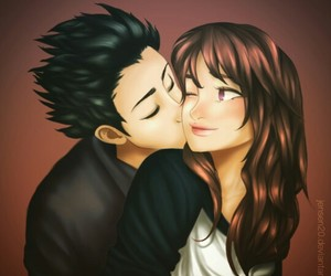 couple, love, and silent voice image