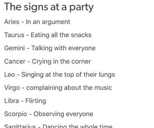astrology, party, and signs image